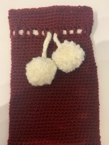 Complete Christmas  wine cosy crochet pattern