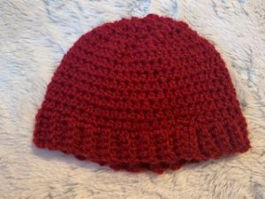 Baby doll hat and mittens crochet pattern