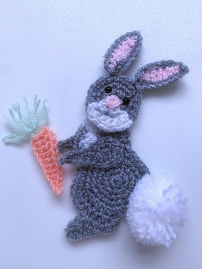 bunny applique crochet pattern