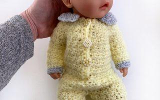 Sweet lemon baby dolls onesie crochet pattern